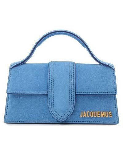 Синий кожаный топ Jacquemus