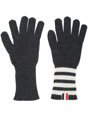 Z kaszmiru rękawiczki - białe Thom Browne