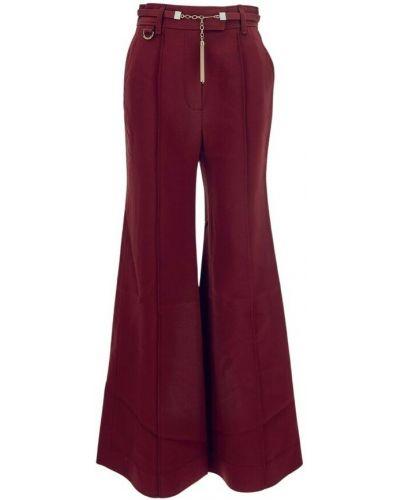 Fioletowe spodnie Zimmermann