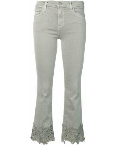 Укороченные джинсы с вышивкой на пуговицах J Brand
