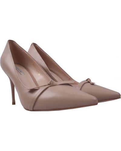 Кожаные туфли - бежевые Anemone