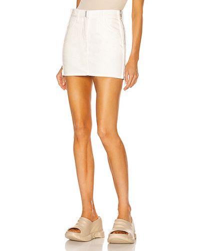Biała spódnica mini bawełniana Givenchy