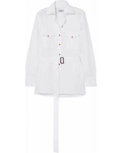 Biała koszula z paskiem zapinane na guziki Giuliva Heritage Collection