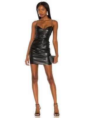 Czarna sukienka skórzana Nookie