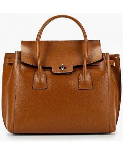 Кожаная сумка итальянский коричневый Roberto Buono