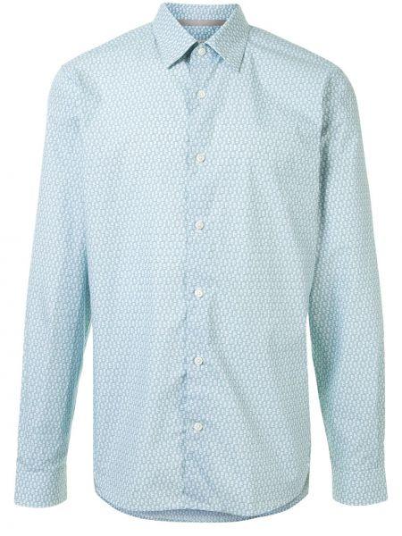 Niebieska koszula bawełniana z długimi rękawami Gieves & Hawkes
