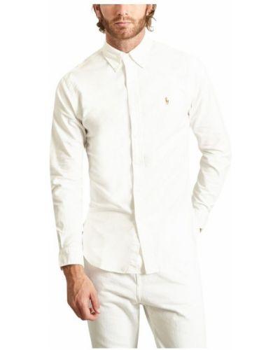 Koszula oxford elegancka bawełniana z długimi rękawami Polo Ralph Lauren