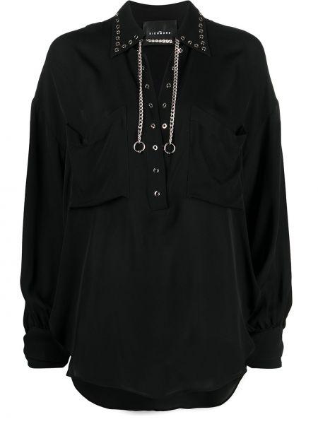 Шелковая блузка - черная John Richmond