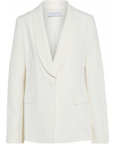 Шерстяной бежевый пиджак с карманами Gabriela Hearst