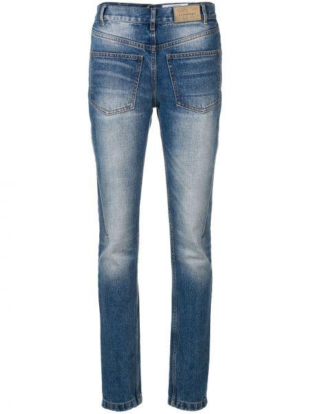 Синие облегающие джинсы-скинни с поясом с пайетками A.f.vandevorst