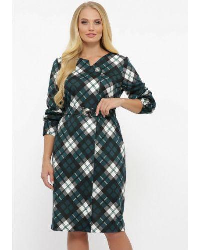 Бирюзовое платье-футляр Vlavi