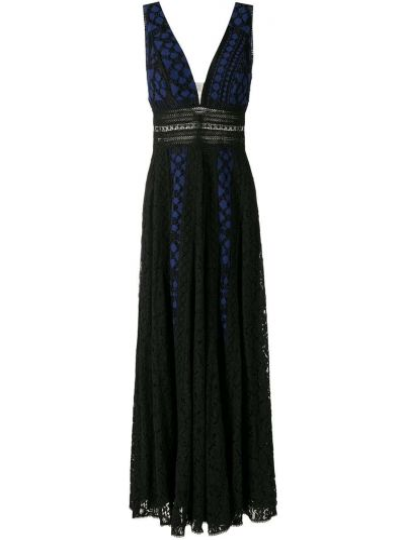 Хлопковое черное вечернее платье без рукавов Martha Medeiros