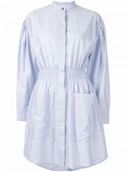 Sukienka długa z falbanami w paski z długimi rękawami Cedric Charlier