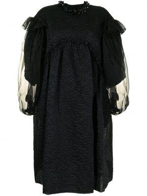 Черное платье на пуговицах Simone Rocha