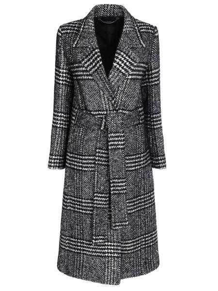 Пальто классическое серое в клетку Karl Lagerfeld