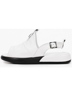 Белые кожаные сандалии Laremo