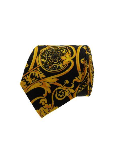 Czarny krawat z jedwabiu Blick