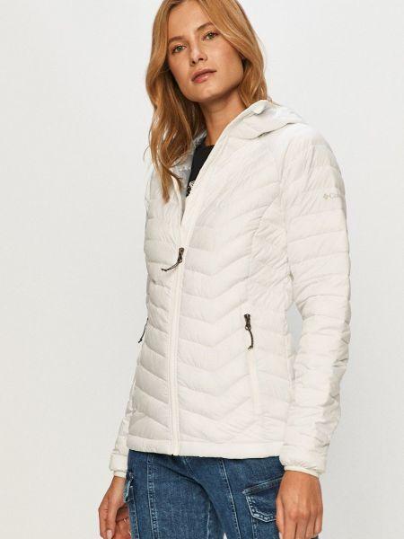 Белая стеганая куртка с воротником Columbia