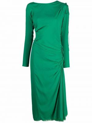 Шелковое платье - зеленое N°21