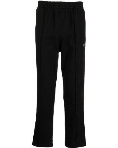 Czarne spodnie z haftem Clot