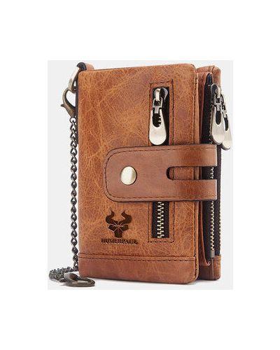Коричневый кожаный кошелек Newchic