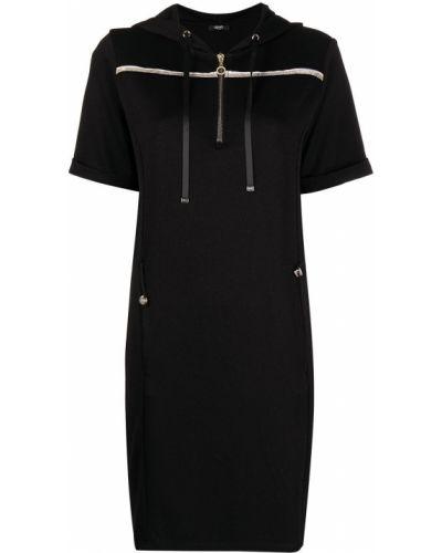 Трикотажное черное платье с карманами Liu Jo