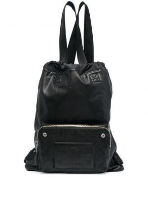 Черный кожаный рюкзак на шнурках Diesel