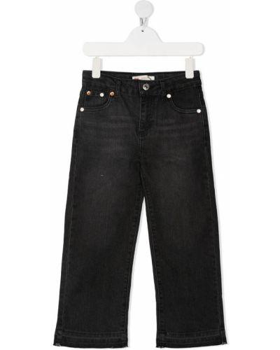 Классические серые прямые джинсы с нашивками свободного кроя Levi`s Kids