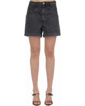Джинсовые шорты со стразами Isabel Marant