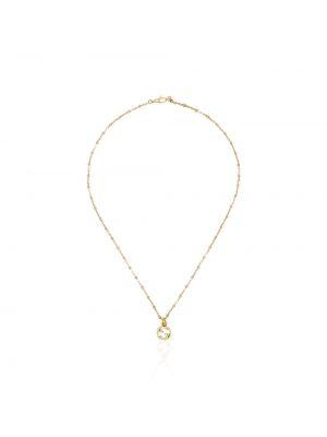 Ażurowy żółty złoty naszyjnik Gucci