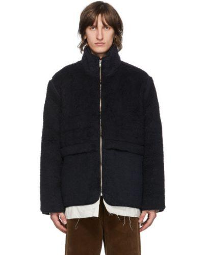 Хлопковая белая длинная куртка с карманами с воротником Camiel Fortgens