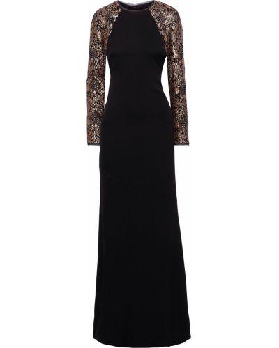 Czarna sukienka elegancka z cekinami Rachel Zoe
