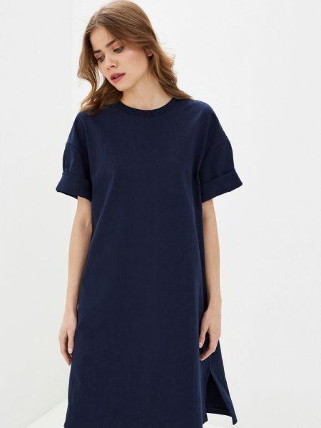 Платье футболка синее Gap