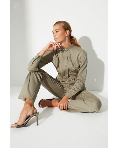 Kombinezon bawełniany - khaki Trendyol
