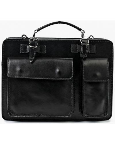 Черный кожаный портфель Roberta Rossi