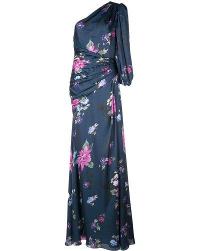 Вечернее платье с цветочным принтом с драпировкой Jill Jill Stuart
