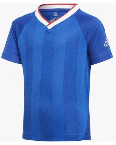 Футболка футбольный синий Adidas
