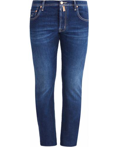 Джинсы классические джинсы-скинни с нашивками Jacob Cohen