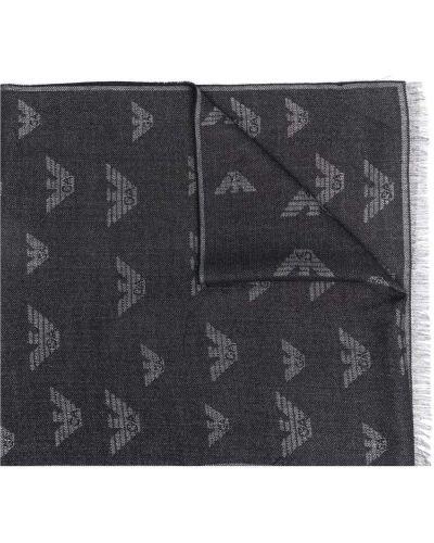 Черный акриловый шарф Emporio Armani