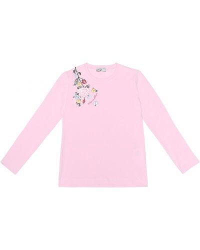 Топ розовый с вышивкой Monnalisa