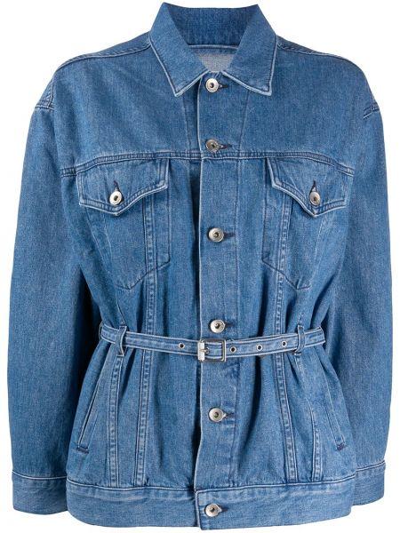 Синяя джинсовая куртка с поясом с манжетами Rag & Bone