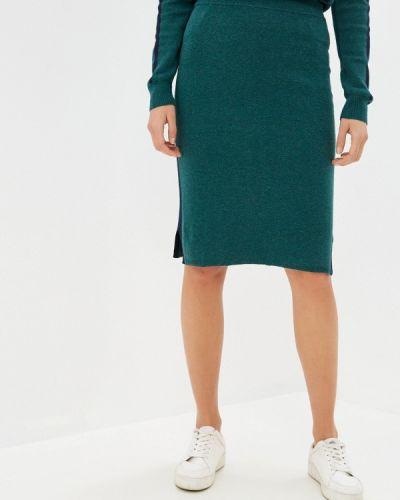 Зеленая прямая юбка карандаш Rodier