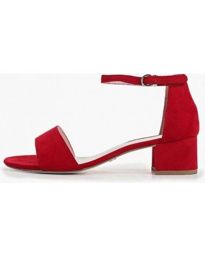 Босоножки на каблуке красный Tamaris