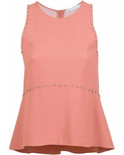 Блузка без рукавов розовая батник НК