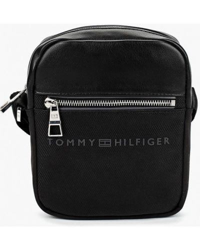 Сумка через плечо кожаная текстильная Tommy Hilfiger