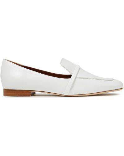 Białe loafers skorzane Malone Souliers