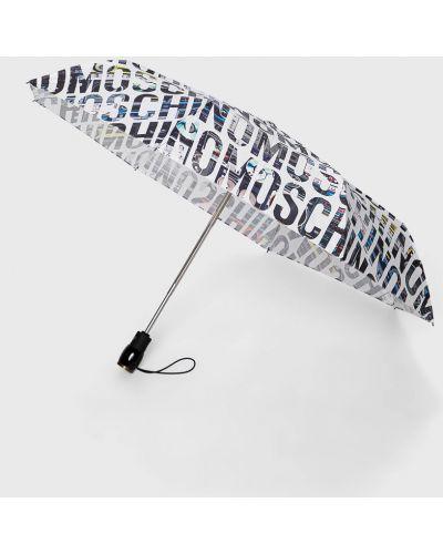 Biały parasol Moschino