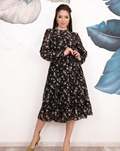 Шифоновое платье - черное Issa Plus