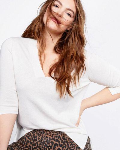 Пуловер белый Violeta By Mango