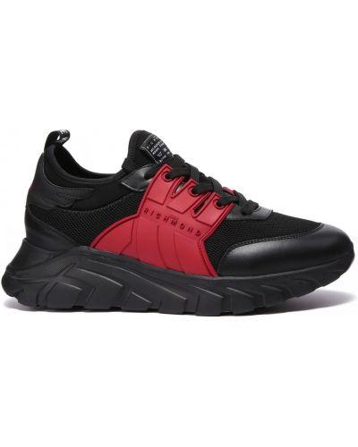 Кожаные кроссовки на шнуровке закрытые John Richmond